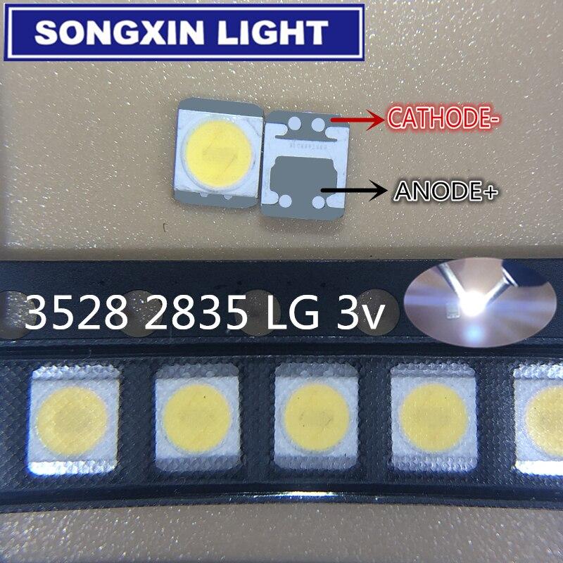 1000 шт. для LG Innotek светодиодный Светодиодный Подсветка 1210 3528 2835 1 Вт 3В 100LM холодный белый ЖК-дисплей Подсветка для ТВ Применение