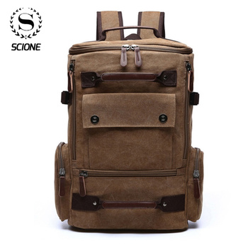 цена Men's Backpack Vintage Canvas Backpack For Men High quality Large Capacity Backpack Laptop Travel  School Bag Dropshipping онлайн в 2017 году