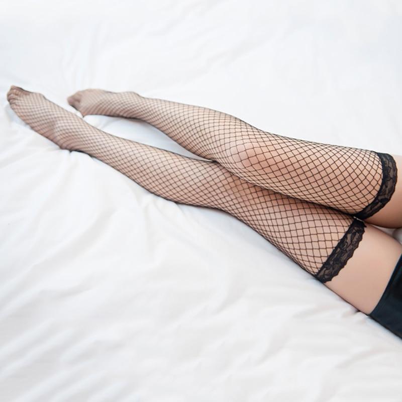 Women Sexy Ultra-thin Long Socks Lace Side Elastic Over Knee Long Tube Stockings Women Black Over Knee Stockings