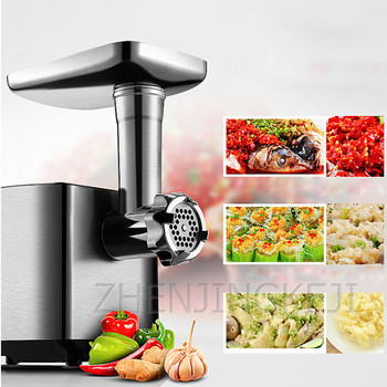 18 electric meat sausage stuffer stainless steel meat grinder vegetable potato fruit cutting machine commercial sausage filler Electric Meat Grinder Fully Automatic 220V Multifunction Stainless Steel Electric Chopper Mincer Sausage Stuffer Food Processor