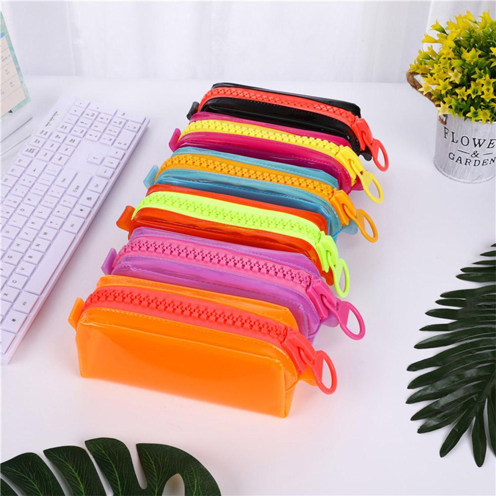 EastVita Pen Bag Waterproof Large Capacity Zipper Pencil Case For Stationery Storage D22