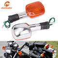 OUMURS Neue Motorrad Blinker LED Licht Chrome 8mm Für Honda Rebel CA250 CMX400 Schatten VT400 1100 Steed VLX600 magna VF750