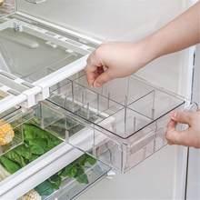 1/4/8 Grid Fridge Food Fresh Keep Storage Box Multi-Purpose Space Saver Refrigerator Food Container Egg Storage Drawer Organizer