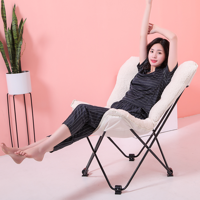 Butterfly chair simple Nordic folding chair creative moon chair leisure lazy sofa recliner