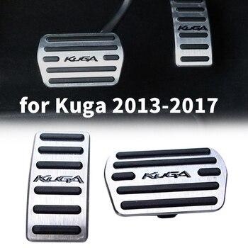 Педали крышки для Ford Escape Kuga 2013-2017 автомобильные тормозные колодки без сверла противоскользящие с резиновыми алюминиевыми
