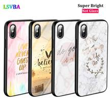 Black Cover Motivational Quotes for iPhone X XR XS Max for iPhone 8 7 6 6S Plus 5S 5 SE Super Bright Glossy Phone Case black cover motivational quotes for iphone x xr xs max for iphone 8 7 6 6s plus 5s 5 se super bright glossy phone case