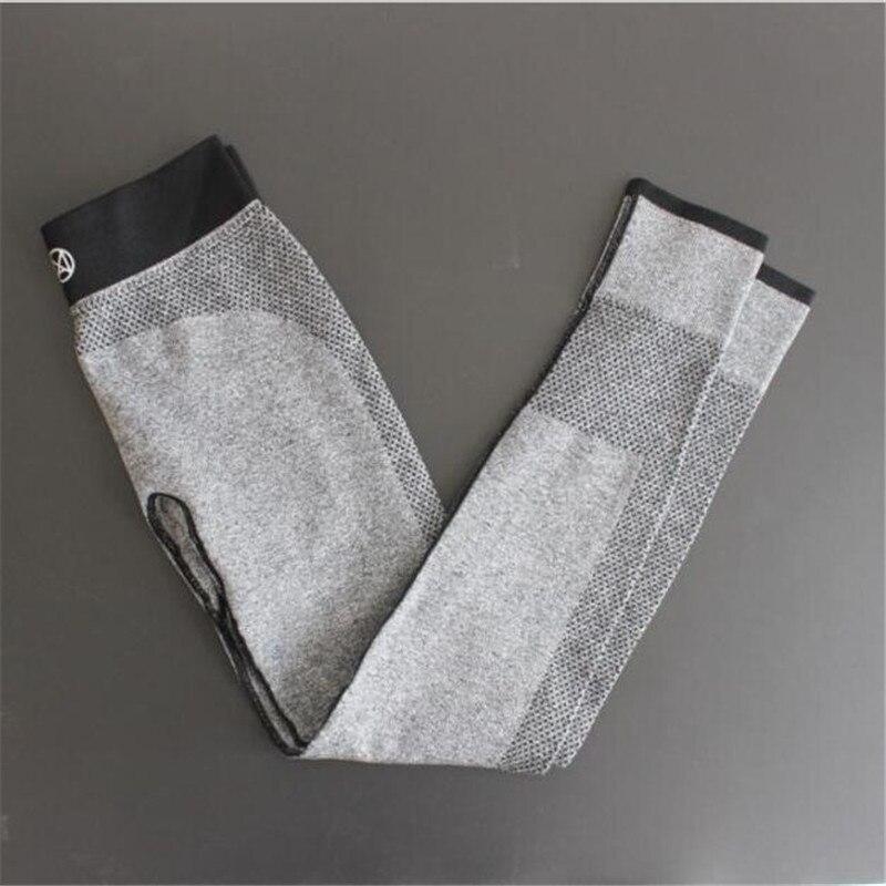US Lady Knitted Cotton Leggings Geometric Pattern Printing Patchwork Spring Autumn Running Sports GYM High Waist Elastic Slim