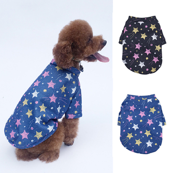 Dog Clothes Autumn Winter Warm Cotton Sweater Cute Puppy Cat Pet Clothes for Small Big Dogs Printing Warming Clothing Accessory image