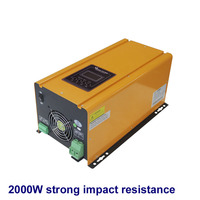 2000w Low Frequency UPS Inverter strong impact resistance with AC Charger 2kw inverter with lcd pannel