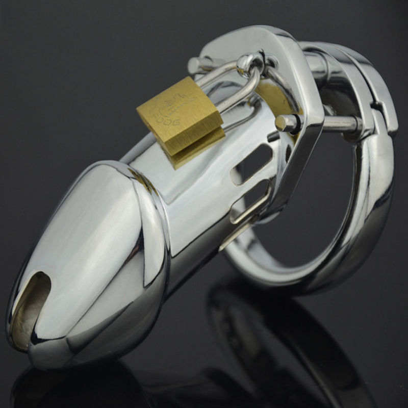 CB6000 Long Cock Cage Stainless <font><b>Steel</b></font> Male Chasity Device Cock Lock Bird Bondage <font><b>Penis</b></font> <font><b>Ring</b></font> Chastity Cage Sex Toys For Men Cbt image