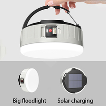New Solar Rechargeable Lamp LED Portable Camping Light Multifunctional Outdoor Lighting USB Phone Charging Emergency Night Light