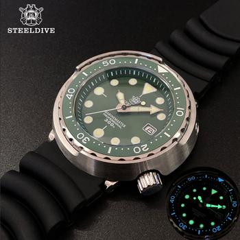 STEELDIVE konserwa z tuńczyka 300m zegarek nurkowy C3 Luminous 316L ze stali nierdzewnej nurkowanie ceramiczna ramka szkiełka zegarka NH35 automatyczne mechaniczne zegarki męskie tanie i dobre opinie 30Bar Składane zapięcie z bezpieczeństwem SPORT Mechaniczna Ręka Wiatr Automatyczne self-wiatr 26cm STAINLESS STEEL