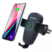 Fast 10W Qi Wireless Car Charger Air Vent Mount Phone Holder For iPhone XS Max X XR 8 For Samsung S9 S8 Huawei Mate 20 Pro 20 RS arvin wireless charger car phone holder for iphone 8 x xr xs max samsung s9 universal gravity fast wireless air vent mount stand