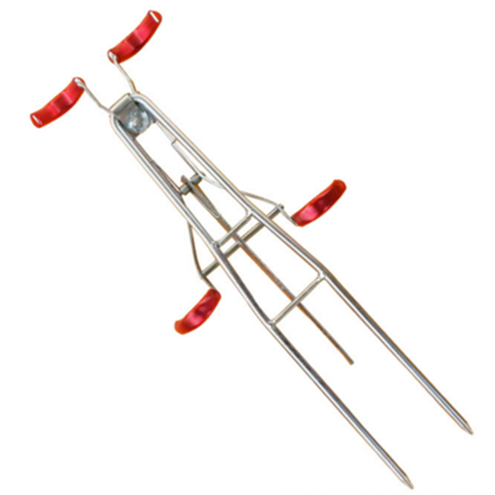 Fishing Rod Holder Double Pole Metal Iron Bracket Double Rod Bracket