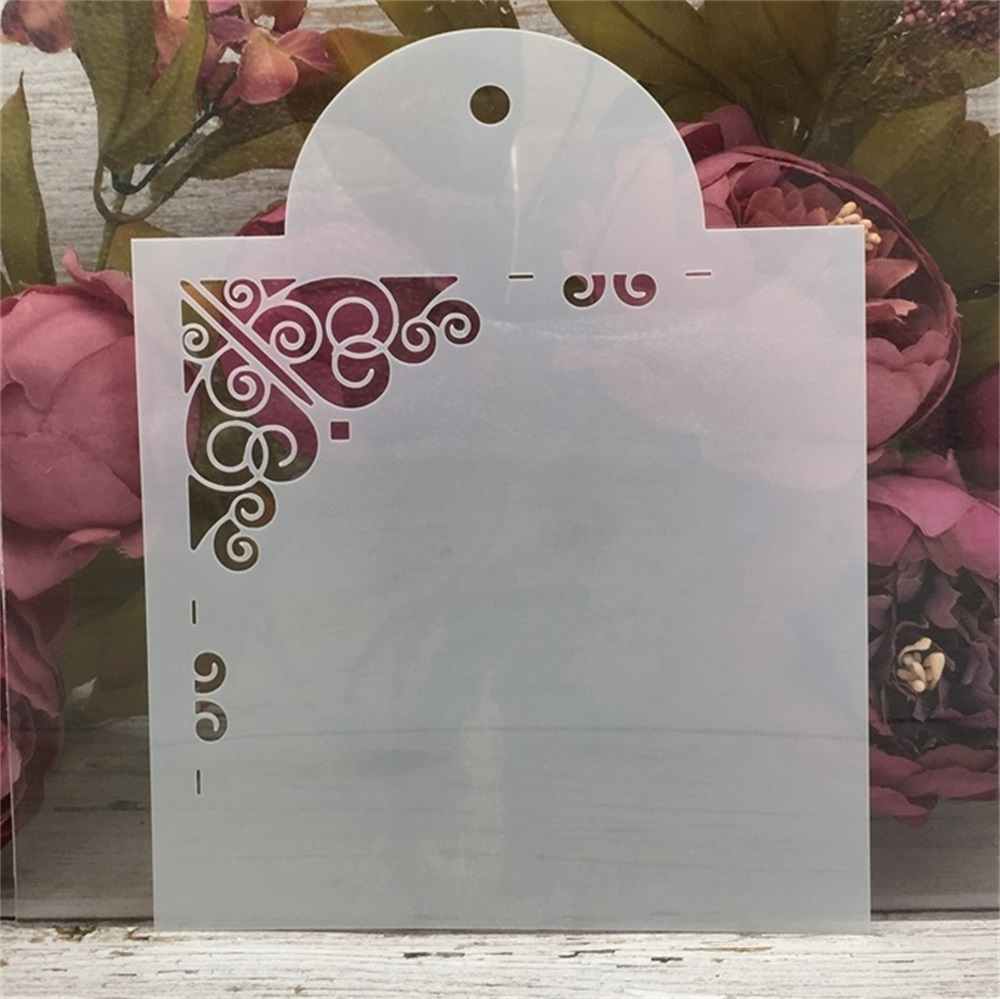 15*19cm  Flowers Edge DIY Craft Layering Stencils Painting Scrapbooking Stamping Embossing Album Paper Card Template