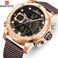 NAVIFORCE мужские часы Топ люксовый бренд военные кварцевые мужские часы водонепроницаемые из нержавеющей стали спортивные мужские часы светя...