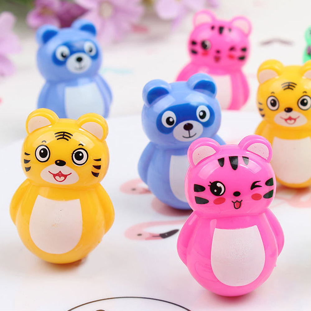 Baby Gift Funny Birthday Party Toys For Children Mini Tumbler Cute Cartoon Doll For Kids