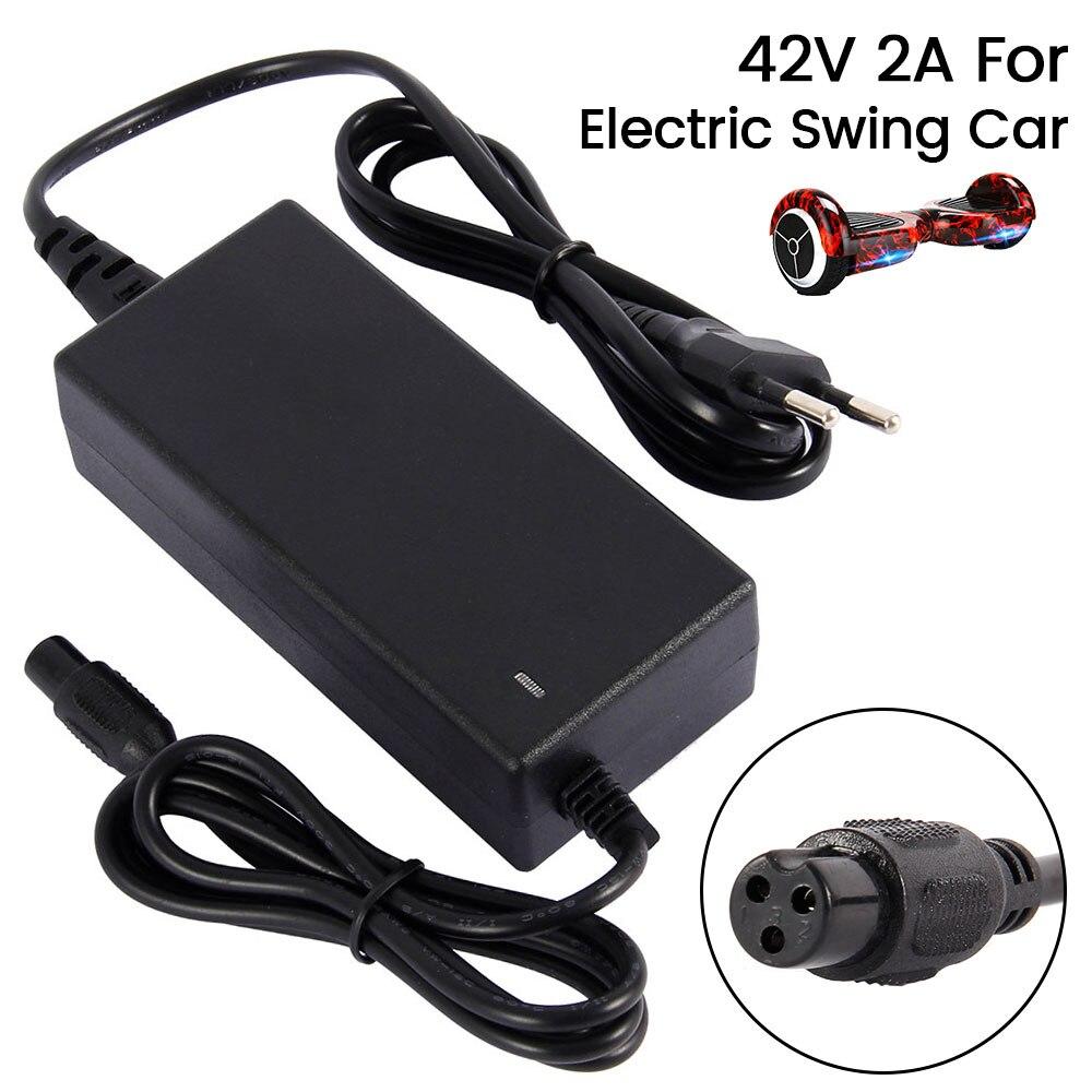 Tüketici Elektroniği'ten Şarj Cihazları'de 42V 2A evrensel pil şarj cihazı için Hoverboard akıllı denge tekerleği elektrikli Scooter durun kurulu ab abd fiş adaptörü sürücü title=