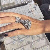 Женские кольца с кисточками с щетка звезда вес около 21гр чистое серебро ювелирные изделия большое коктейльное кольцо для свадьбы помолвки