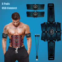 Abdominal Muscle Stimulator Trainer USB Connect EMS Abs Fitness Equipment Training Gear Muscles Electrostimulator Toner Exercise