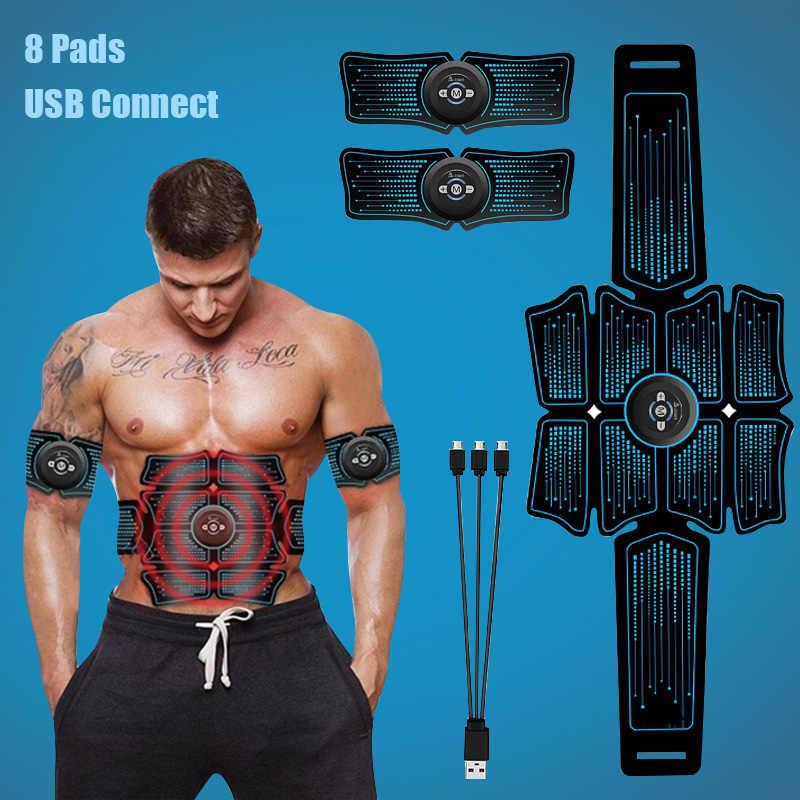 Ems Otot Perut Stimulator Pelatih Usb Terhubung Kebugaran Pelatihan Peralatan Gear Otot Electrostimulator Toner Pijat
