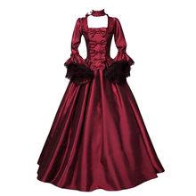 Médiéval rétro gothique robe de cour Royal Lady robe de bal col carré taille serrée nœud papillon femmes élégant Costume Vestidos Robes
