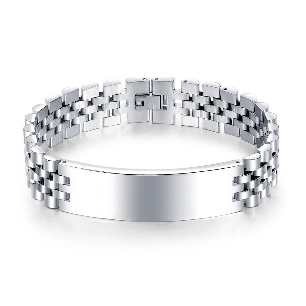TF-96 18mm Bracelet de montre Bracelet en gros en acier inoxydable 316L ton or Rose argent Bracelet de montre huître Bracelet pour Dayjust