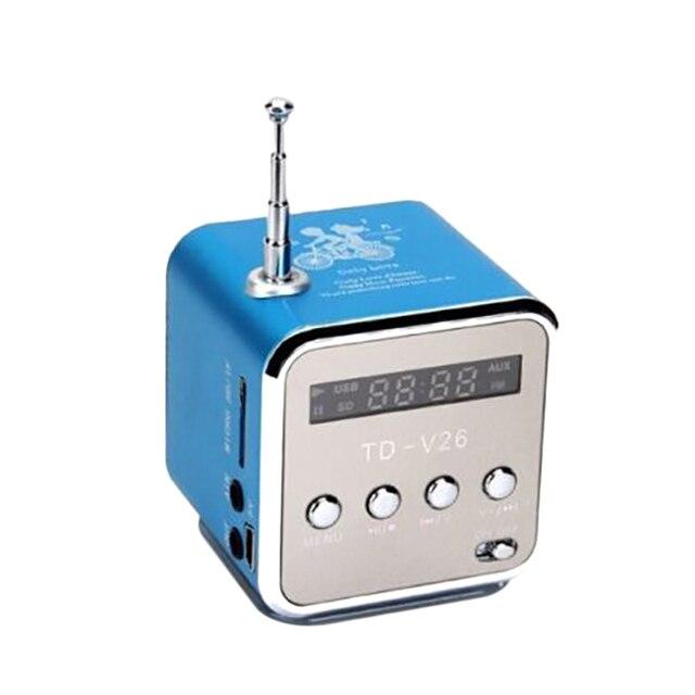 MOOL المحمولة TD V26 الرقمية FM سماعات راديو صغيرة تعمل لاسلكيًا مع LCD ستيريو مكبر الصوت دعم بطاقة TF صغيرة
