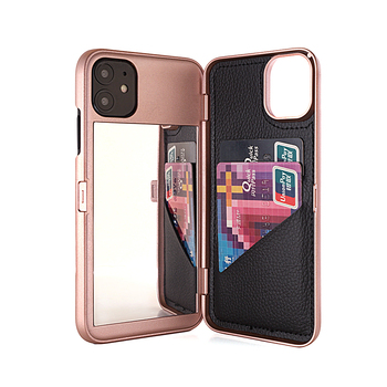 W7ETBEN Dual Layer Flip Case for iPhone XS Max XR X 6 7 8 Plus Card Slot Wallet Make Up Mirror Back Cover for iphone11 Pro Max