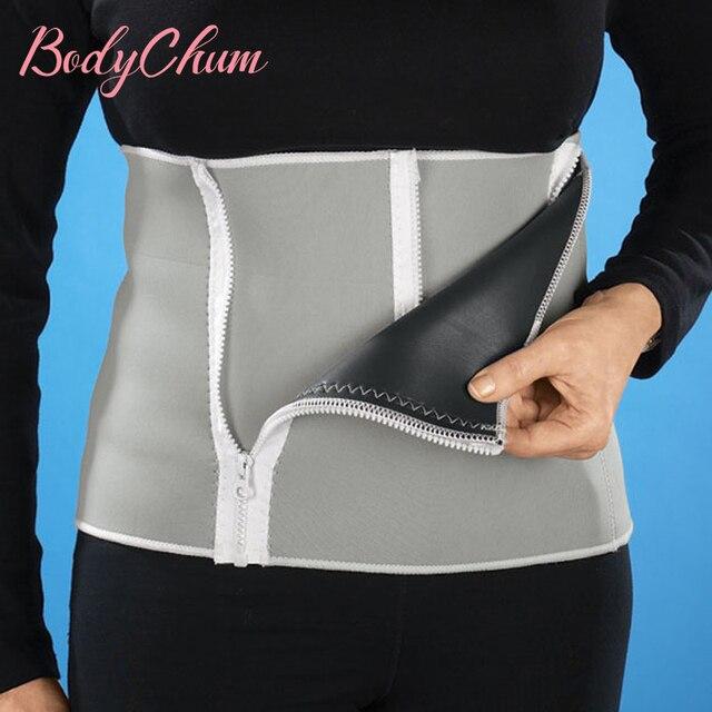 Adjustable Slimming Waist Belt Burn Belly Fitness Body Fat Cellulite Burner Shaper Men 5 Zippers Wrap Modeling Strap Corsets