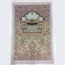 Alfombra de algodón con borlas para rezar, alfombra de 65x110cm para la ceremonia islámica árabe