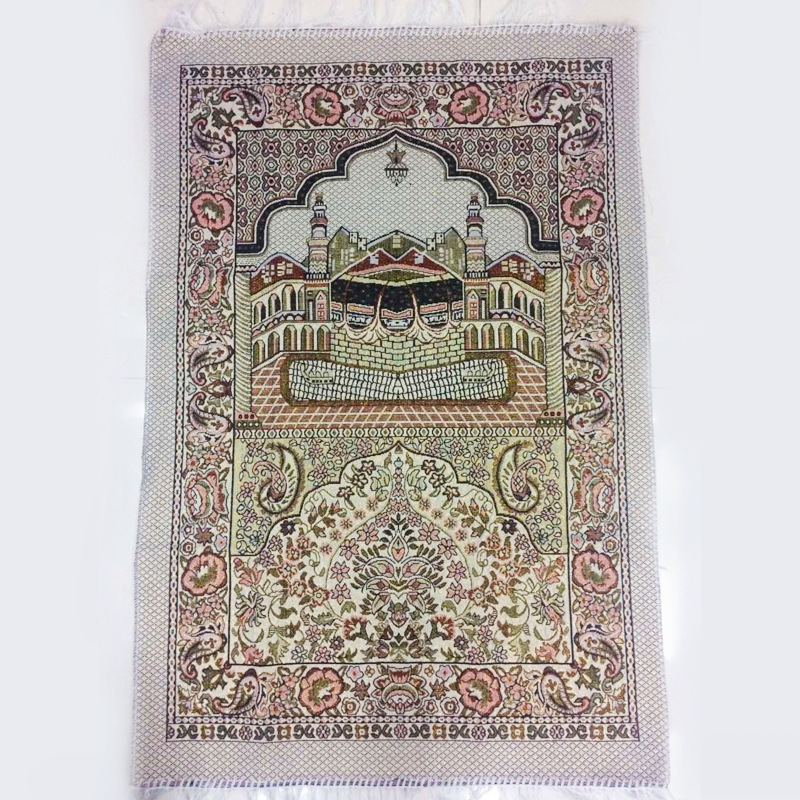 The Mosque Muslim Prayer Blanket Tassel Worship Rugs 65x110cm Prayer Mat Cotton Carpet for Arab Islam Ceremony Blanket