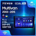 TEYES CC2L Plus Штатная магнитола For Фольксваген Мультивен T5 For Volkswagen Multivan T5 2003 - 2015 Android до 4-ЯДЕР до 2 + 32ГБ DSP 2DIN автомагнитола 2 DIN DVD GPS мультимедиа авт...