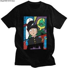 Сигео кагеяма футболка для мужчин модные хлопковые mob psycho»