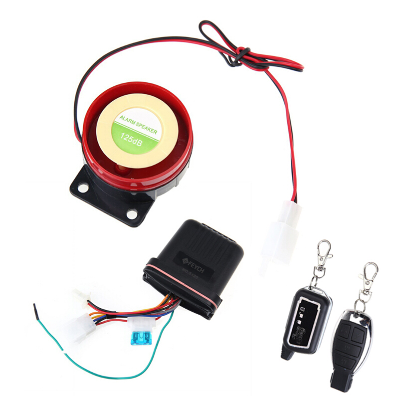 Motorcycle Siren Anti-theft Security Remote Control Vibration Sensor Alarm MTF02 For Motorbike Scooter