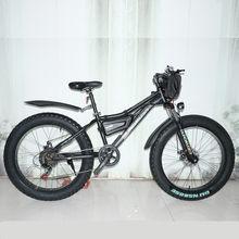 Vélo de plage électrique 2000W à pneus larges, moteur 4.0 de 48V pour la neige, moteur de 26 pouces
