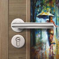 LH1003 stainless steel#304 tube lever handle door handle