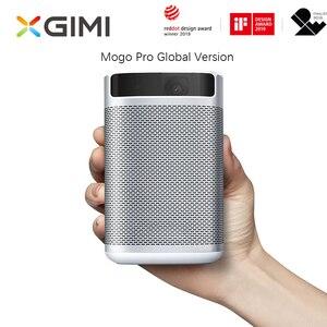 Xgimi mogo pro versão global mini projetor dlp portátil com bateria android 9.0 tv wifi 3d bluetooth proyector de cinema em casa