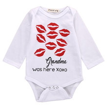 Infant Toddler Baby Boy Girl Romper Grandma was here Printed Casual Newborn Baby Clothes Babygrows 0-18M(China)