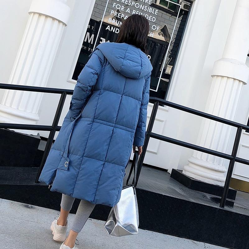 Winter Jacket Women 90% Duck Down Coat Female Long Warm Down Parka Down Jacket Woman Hooded Outwear Clothes 2020 LWL1281