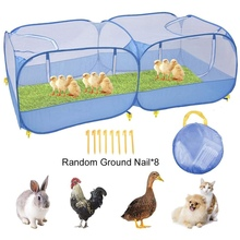 Playpen-Cage Chicken Rabbit Outdoor Dog-Duck Animal for Cat Pet Fence Coop Foldable