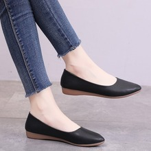 2020 Women Shoes Flats Shoes Woman Fashion Loafers Casual Pointed Toe Solid Shallow Ladies Shoes Soft Bottom Zapatos De Mujer 2017 soft women shoes for pregnant women cotton fabric flats shoes ladies work shoes for woman loafers zapatos mujer 020