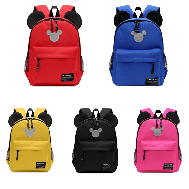 New Disney Kindergarten Bag Cartoon Mickey Children's Backpack 2-5 Years Old Boys And Girls School Bag Travel Backpack