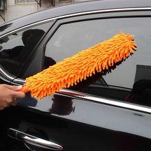 Flessibile Extra Lungo Morbido In Microfibra Ciniglia Anti statica di Rimozione Della Polvere Mobili Strumento di Pulizia Auto Ruota Rondella Pieghevole Pennello