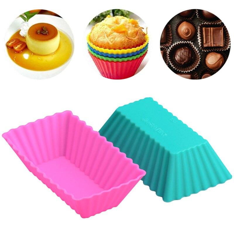 Многофункциональная Пищевая силиконовая форма для торта, прямоугольная чашка для маффинов, коричневая Бытовая форма для мыла, инструменты для домашнего торта Формы для тортов    АлиЭкспресс - форма для выпечки