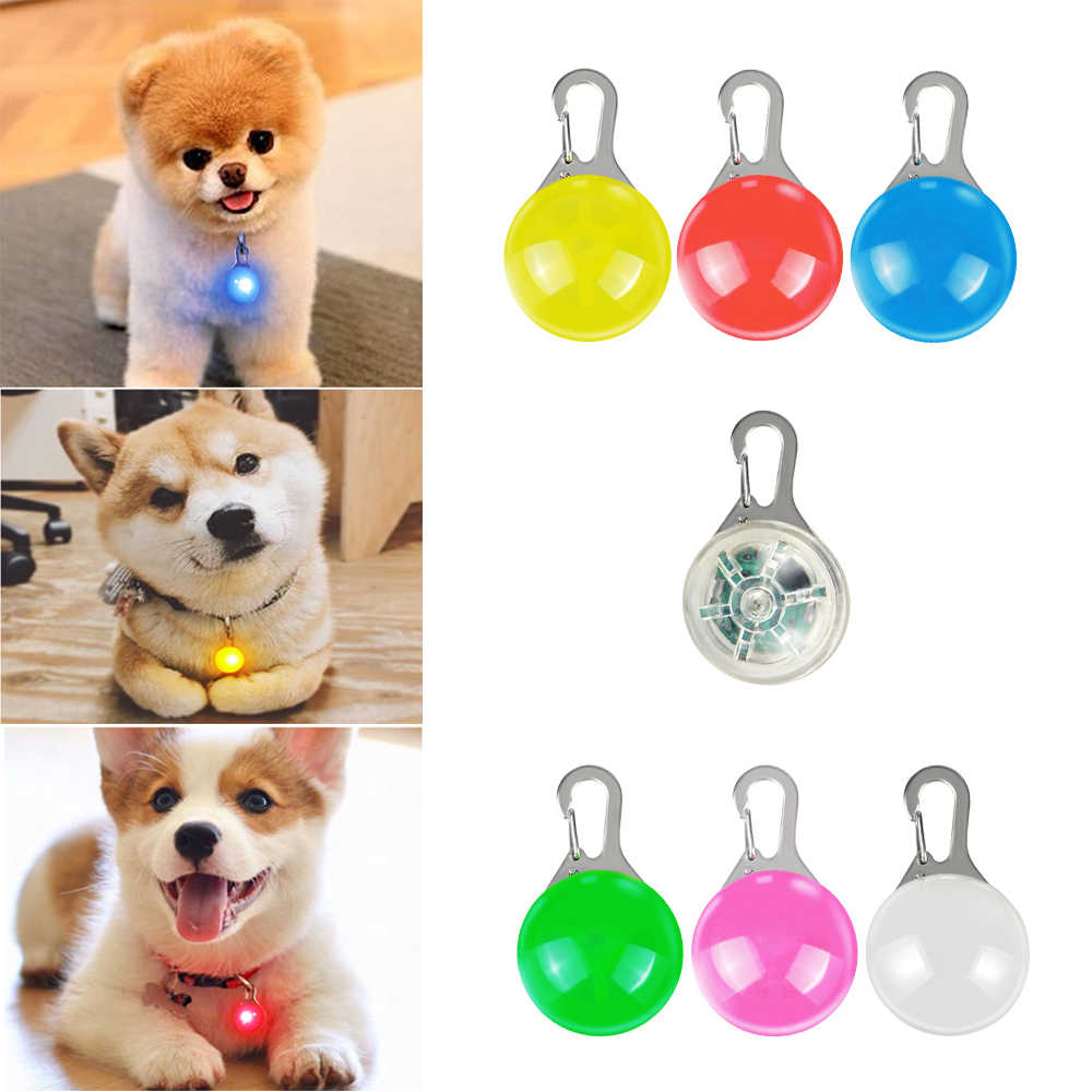 LED dog collar light Flashlight Pet Cat Collar Pendant luminous Safety Night light Necklace Glowing Leads Lights Pet Products