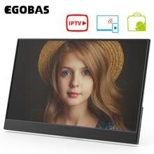 EGOBAS 15,6 WiFi Портативный монитор беспроводной проекции Смарт IPTV APP Store 4K декодирование Bluetooth пульт дистанционного управления голосовой помощни...