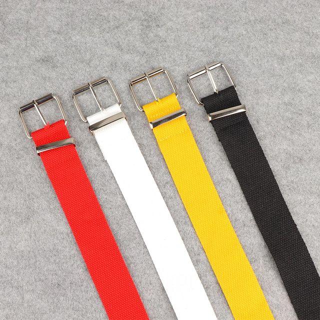 Long Personality Harajuku Casual Ring Black Metal Belt Students Jean Canvas Waist Belts Tide Silver Pin Buckle 8