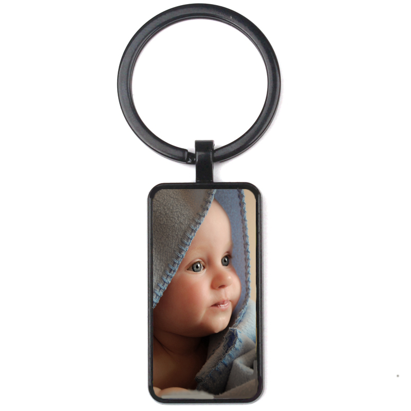 Personalized Photo Pendants Custom Rectangular  Keychain Photo Of Your Baby Child Mom Dad Grandparent Loved Gift Family Member