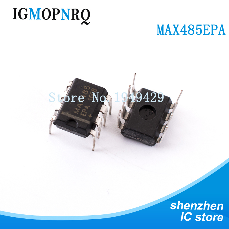 10pcs//lot Max485 Ic Txrx Rs485 rs422 8-dip Max485epa